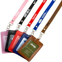 Polyester Lanyards Metal Nail+badge Holder