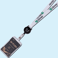 Retractable Full Color Lanyards with Aluminium Badge Holder