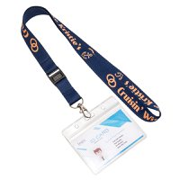 Polyester Lanyard+New Design Plastic Buckle+Badge Holder