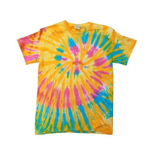 Tie Dye Unisex Womens T-Shirt Top Festival Novelty Party Beach Gift PINK PURPLE