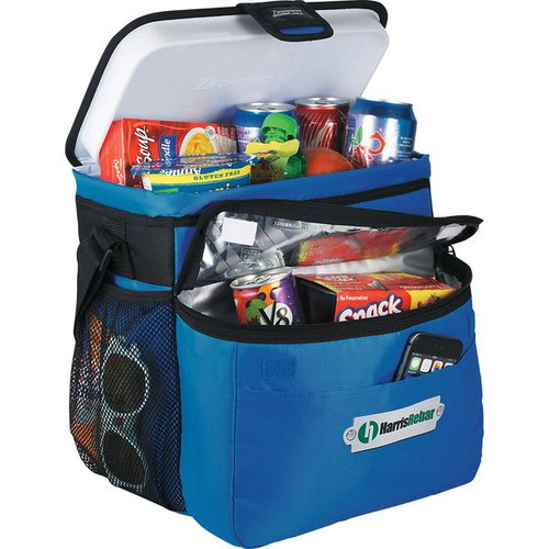Arctic Zone Picnic//Beach 36-Can Cooler with Blanket Blue